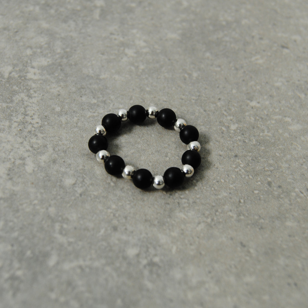 Black & Silver Stacking Ring