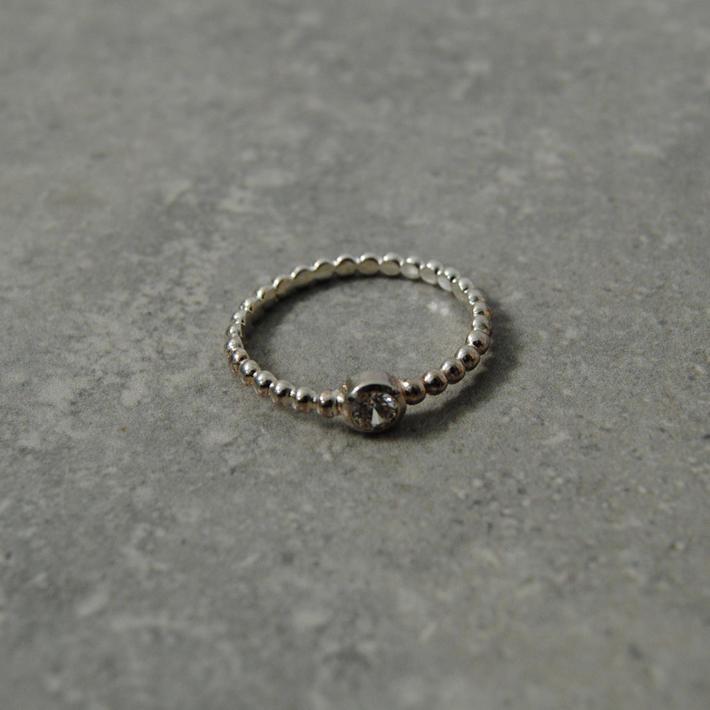 Silver Diamante Stacking Ring