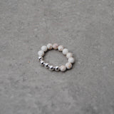 Ivory & Silver Stacking Ring