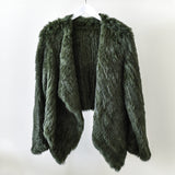 Ethically sourced dyed Forest Green Rabbit Fur