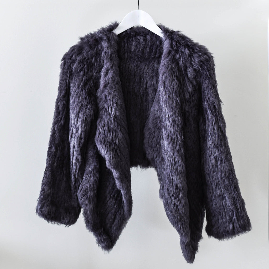 Ethically sourced dyed Dusty Grey Rabbit Fur