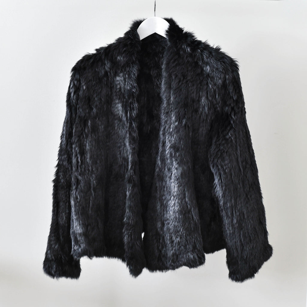 Ethically sourced dyed Black Rabbit Fur