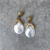 Gold Stud with Mother of Pearl Teardrop