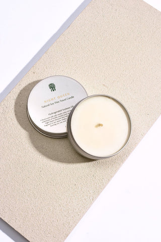 Rose Geranium and Rosewood Natural Soy Wax Travel Candle