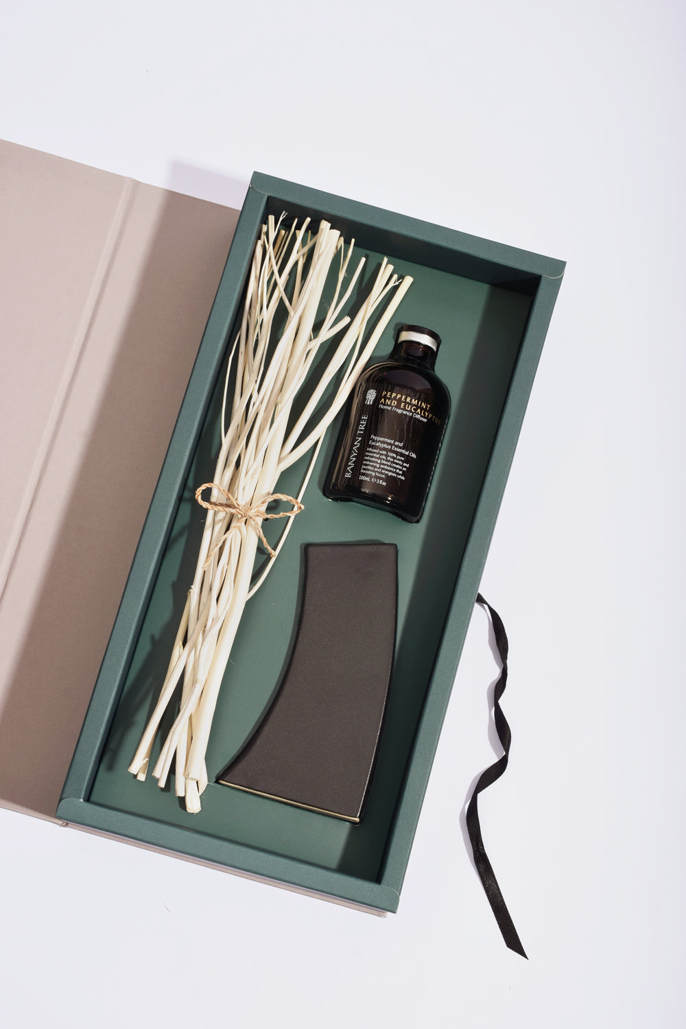 Peppermint and Eucalyptus Home Fragrance Diffuser Set - Banyan Tree Gallery