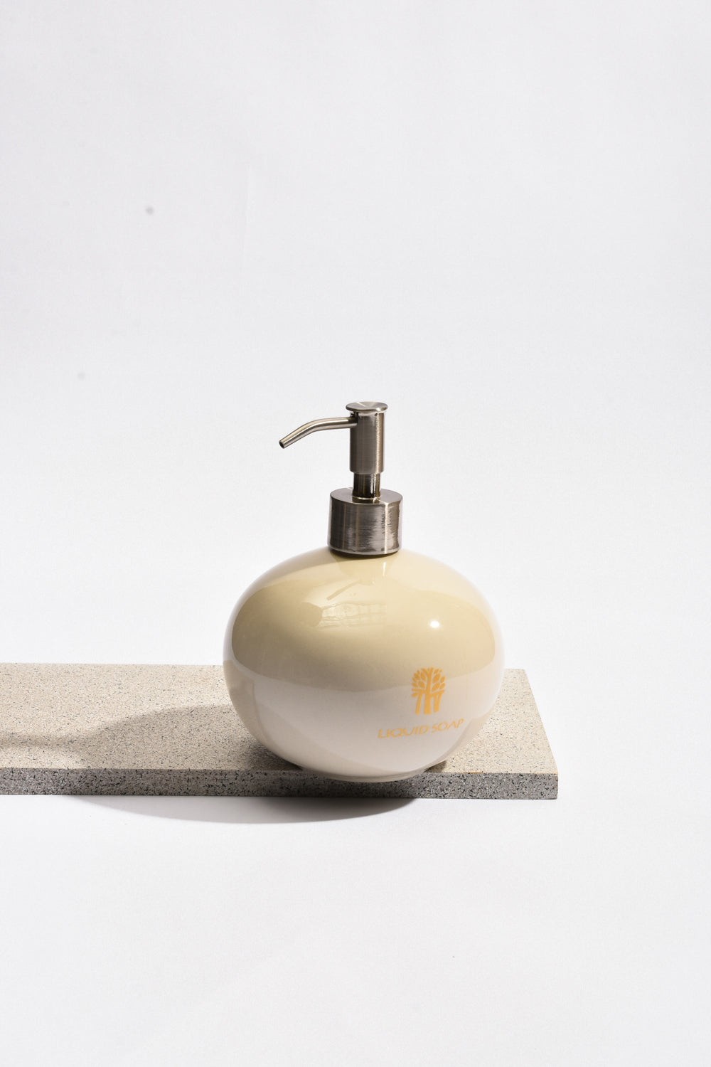 Banyan Tree Ceramic Liquid Soap Dispenser in Ivory - Banyan Tree Gallery