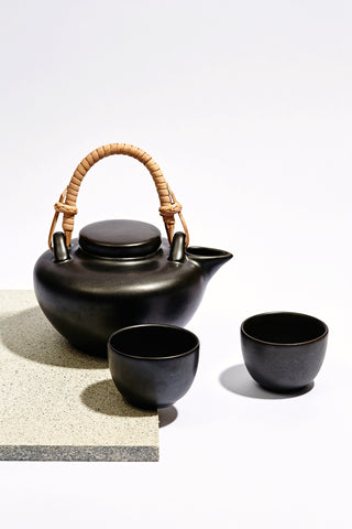Black Ceramic Oil Burner - Mini
