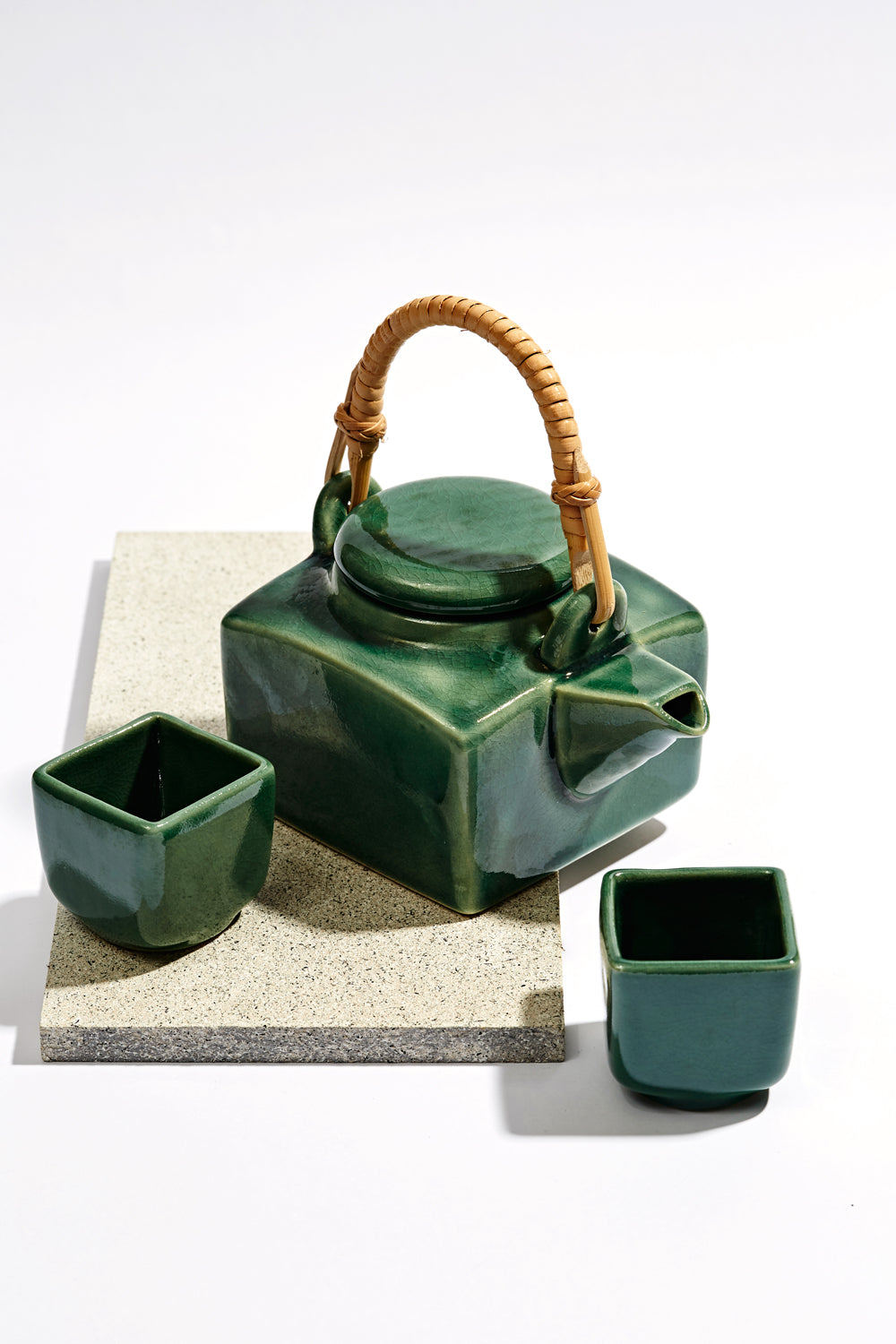 Tea Pot Set - Green