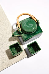 Tea Pot Set - Green - Banyan Tree Gallery