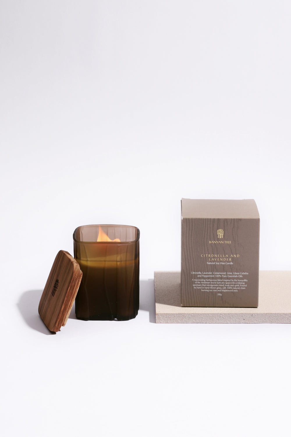 Citronella And Lavender Natural Soy Candle 200g Banyan Tree