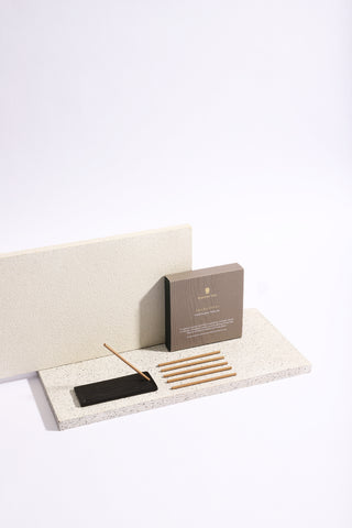 Ivory Ceramic Incense Holder