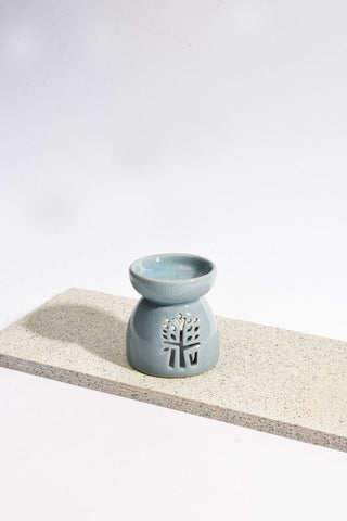 Blue Ceramic Oil Burner - Medium