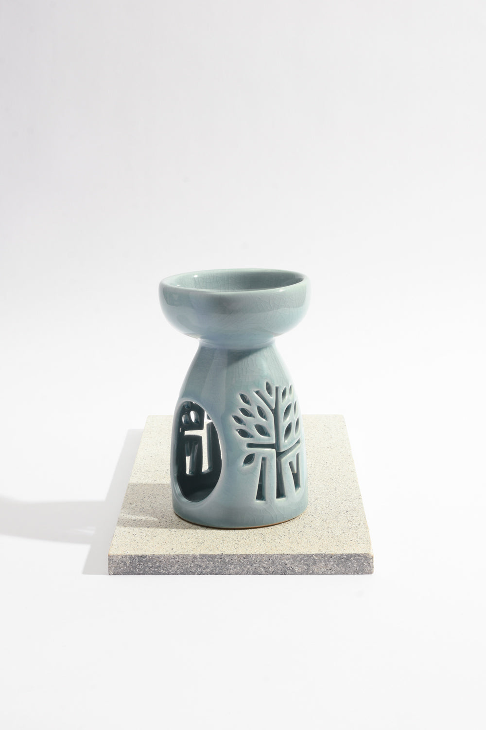 Blue Ceramic Oil Burner - Medium - Banyan Tree Gallery