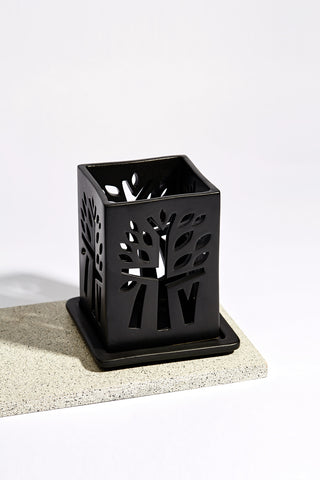 Banyan Tree Candle Holder - M - Black - Banyan Tree Gallery