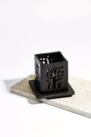 White Ceramic Oil Burner - Medium