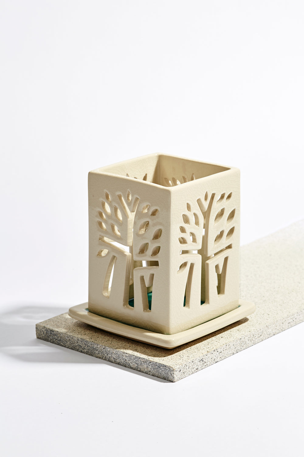 Banyan Tree Candle Holder - M - Ivory - Banyan Tree Gallery
