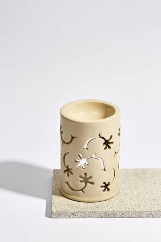 White Ceramic Oil Burner - Mini