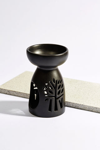 Ceramic Incense Holder - Black