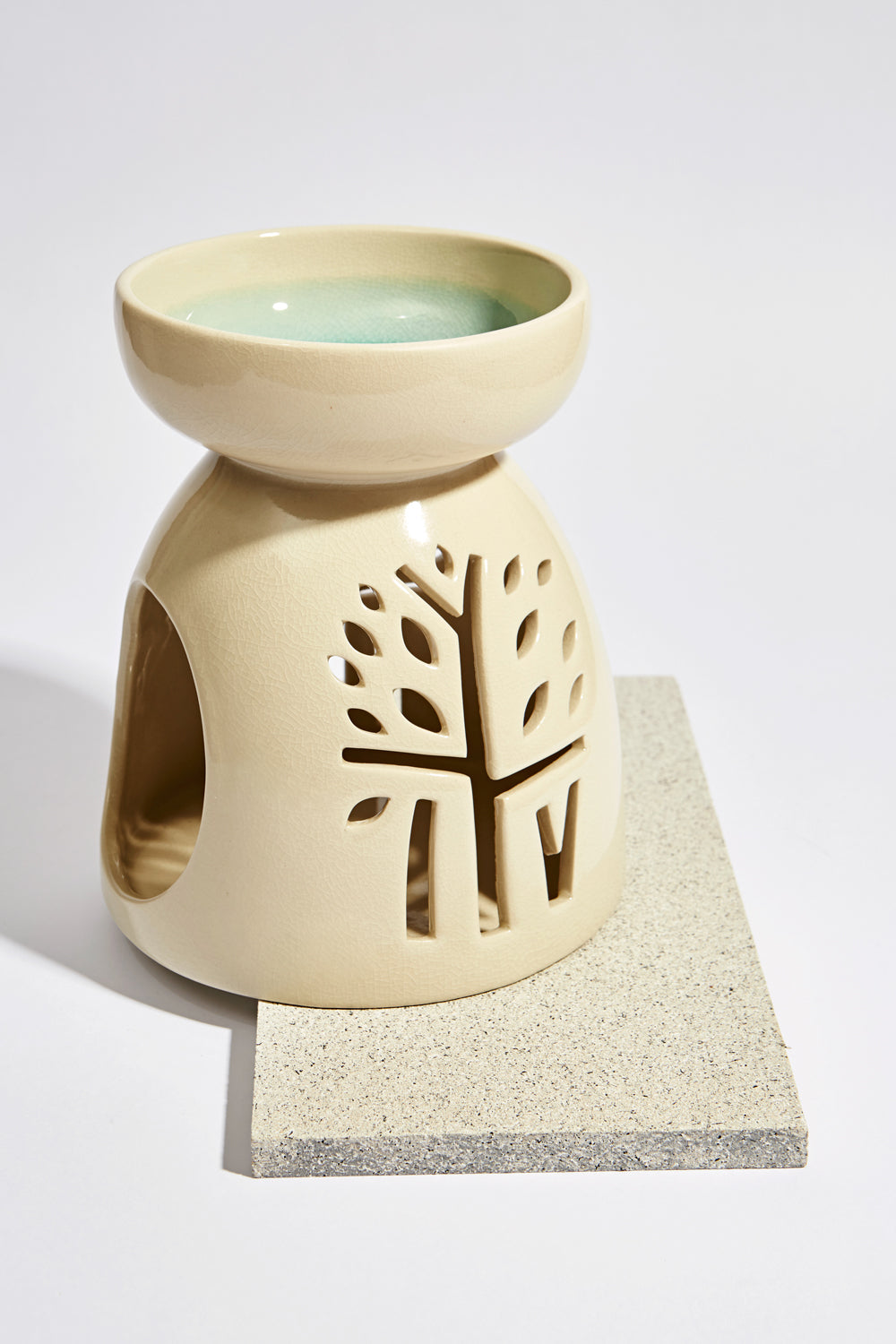 Celadon White Oil Burner - Large - Banyan Tree Gallery