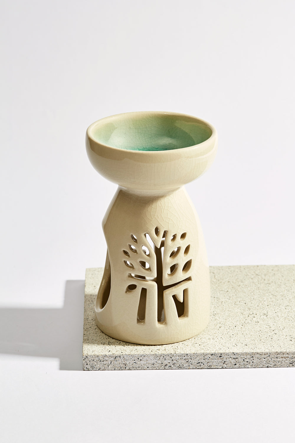 White Ceramic Oil Burner - Medium - Banyan Tree Gallery