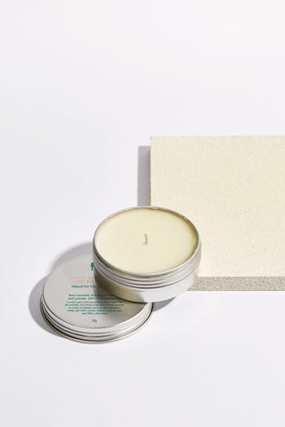 Rose Geranium and Rosewood Natural Soy Wax Candle in Tin