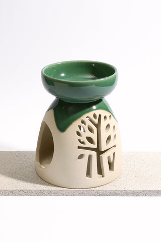 Incense Holder Celadon BT 2 Tone