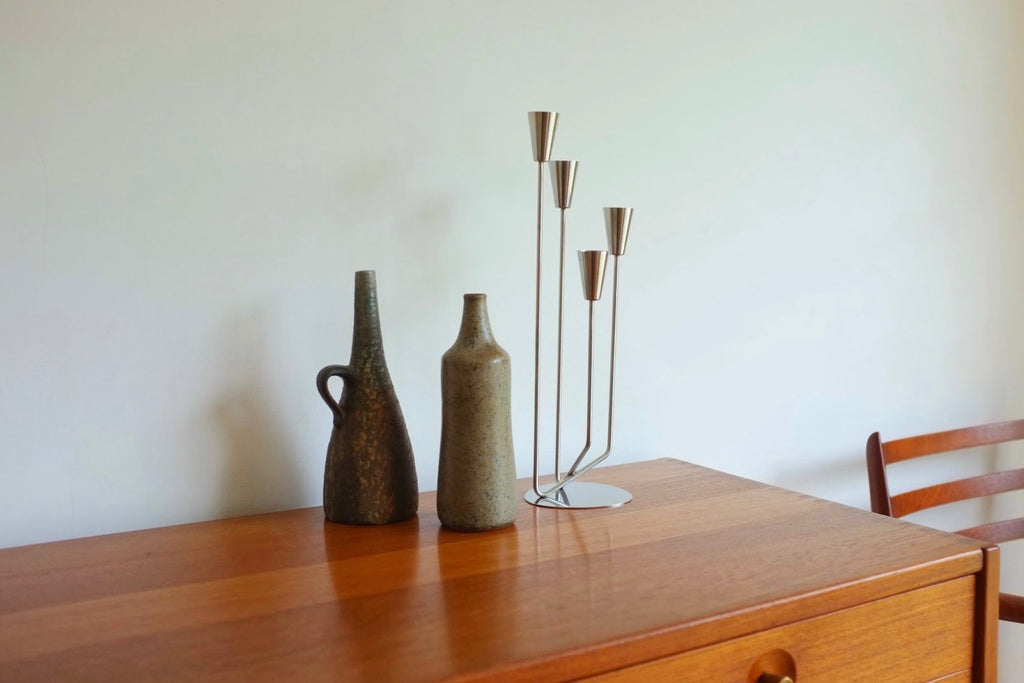 Danish candelabra in stainless steel
