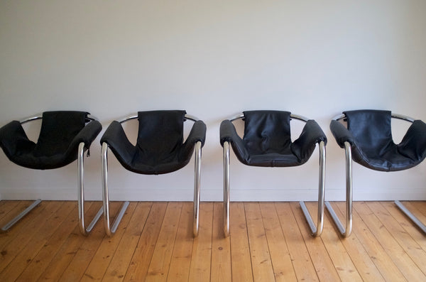 Geoffrey Harcourt sling chair set (4)