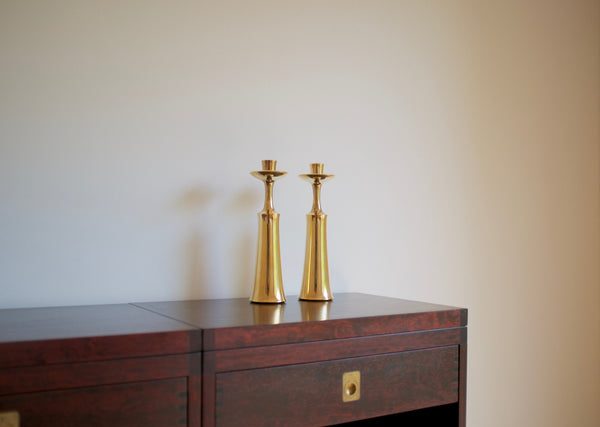 Jens Quistagaard brass candle holders