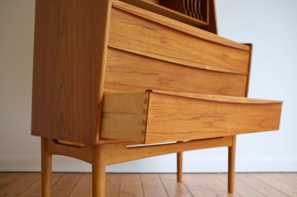 Danish bookcase desk