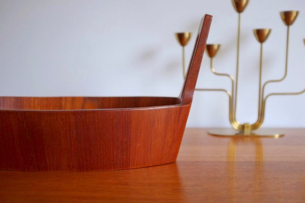 Anti Form teak display bowl