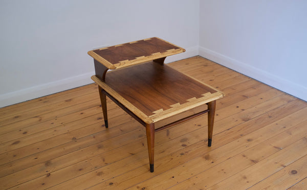 Walnut and oak side table by Andre Bus