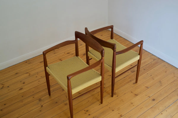 Danish dining chair set by H.W. Klein