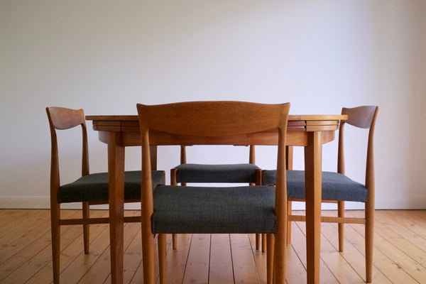 Danish dining chair set (4)