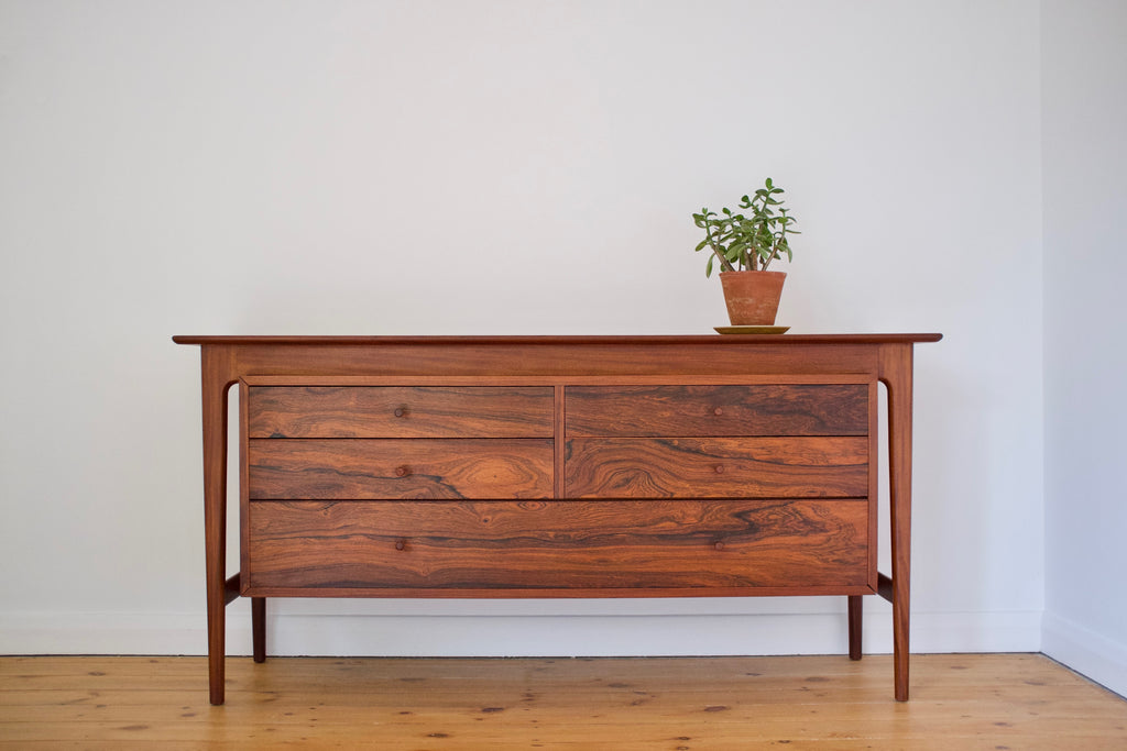 Rosewood and teak dresser chest