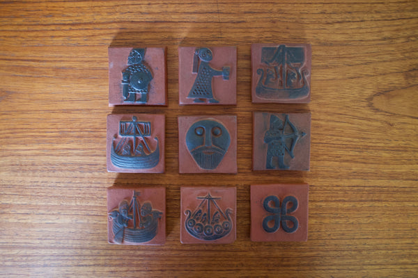 Viking art tiles by Thyssen Keramik