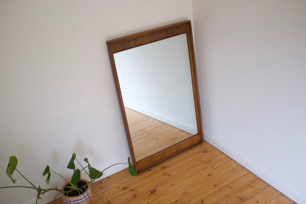 Walnut and rosewood mirror