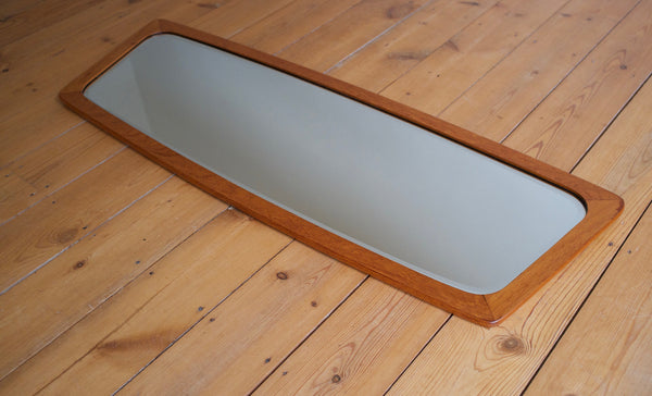 Danish teak framed mirror