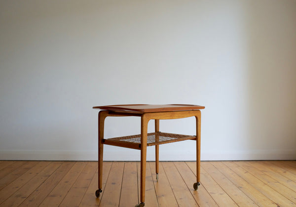Danish tray table in teak and oak
