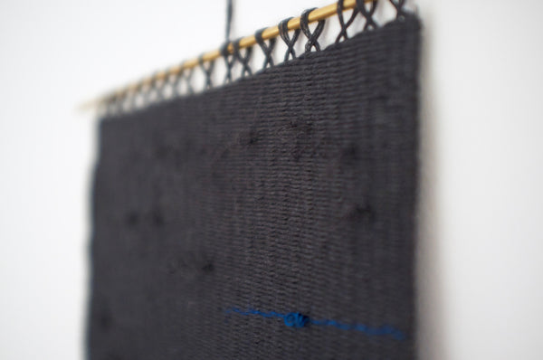 Woven wall hanging - Blue Black II