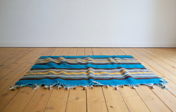Vintage Mexican wool blanket