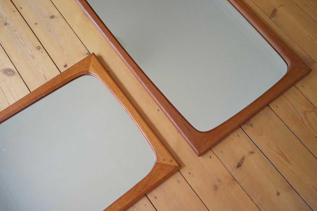 Danish teak wall mirror