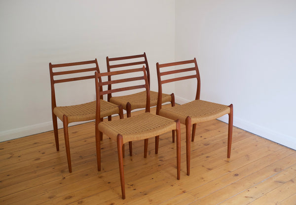 Niels Moller Model 78 dining chair set (4)