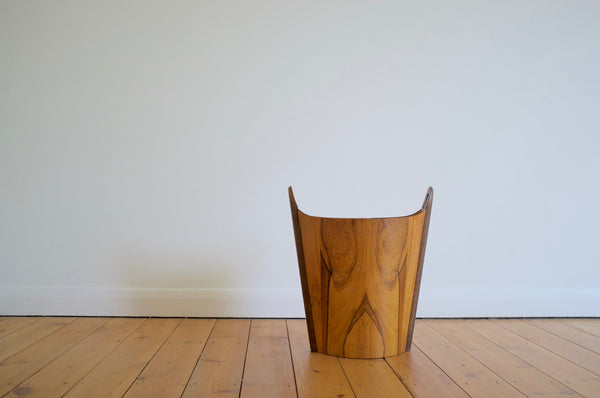 PS Heggen wastepaper basket in Brazilian rosewood