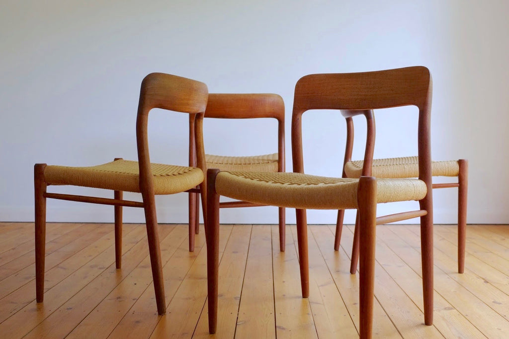 Niels Moller Model 75 dining chair set (4)