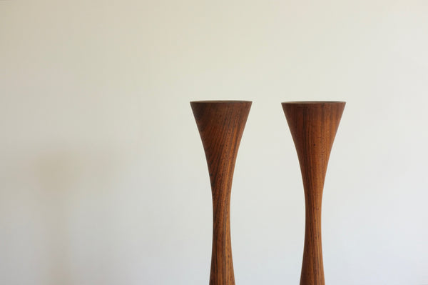 Rosewood candle holders