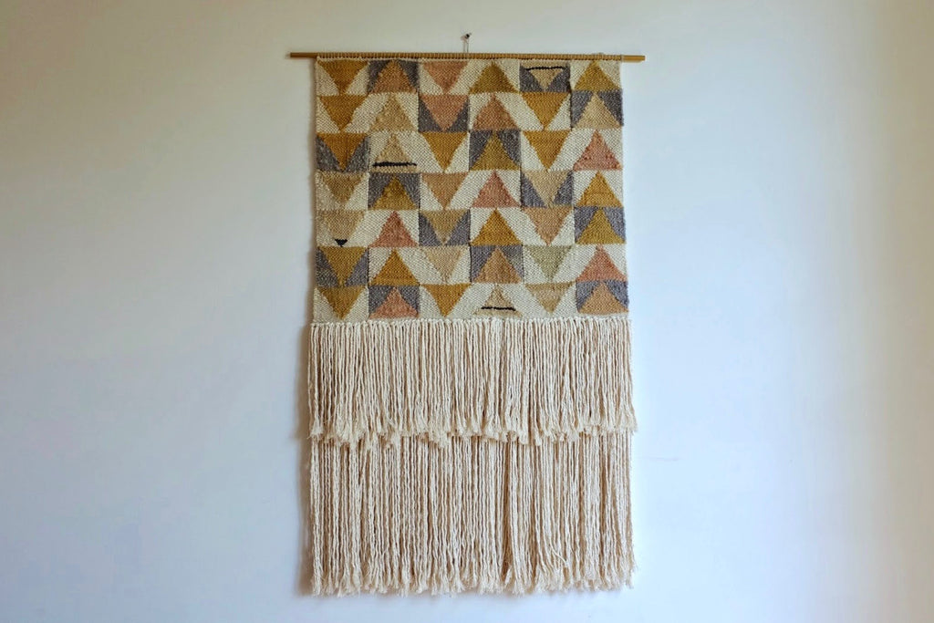 Woven wall hanging - Flying Geese