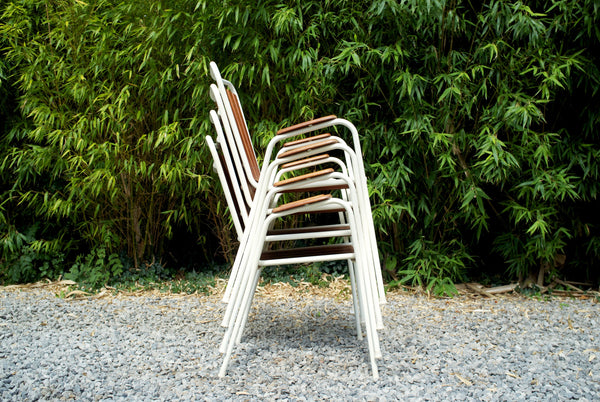 Danish garden chair set (4)