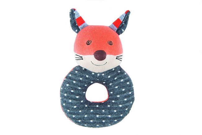Frenchy Fox Teething Rattle