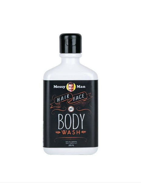 Messy Man Hair, Face & Body Wash